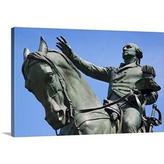 """USA, New York City, Bowery, George Washington statue"" Canvas Wall Art"