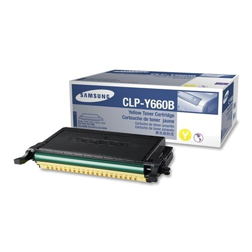 """Samsung CLP-Y660B High-Yield Yellow Toner Cartridge Toner Cartridge"""