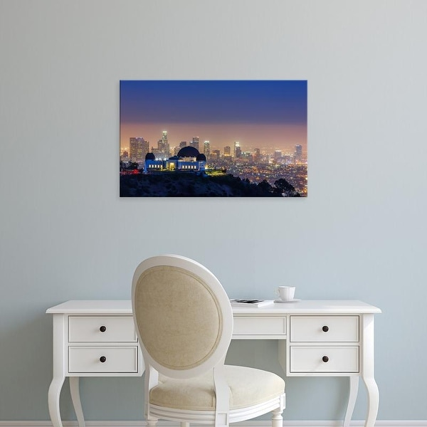 Easy Art Prints Toby Harriman Visuals's 'L.A. Skyline with Griffith Observatory' Premium Canvas Art
