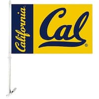 Bsi Products Inc Cal Berkeley Golden Bears Car Flag With Wall Brackett Car Flag