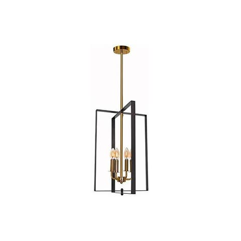 4 light pendant lamp matte black and gold finish kitchen island pendant lighting
