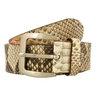 Renato Balestra Blythia BG Beige Python Leather Womens Belt