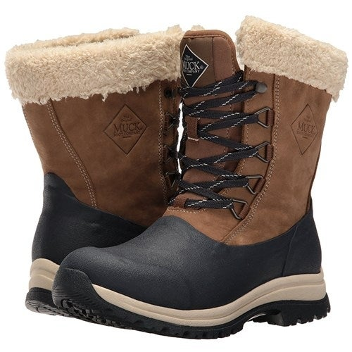 Muck Boots Otter/Navy Women's Arctic Apres Lace Mid Boot - Size 10