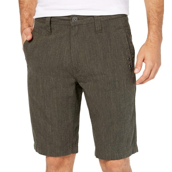 a9e7473afe Shop INC Green Tank Mens Size 34 Casual Regular Fit Flat Front Shorts - Free  Shipping On Orders Over $45 - Overstock - 28259795