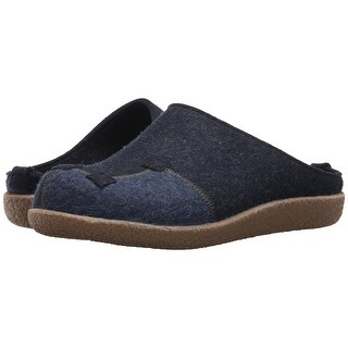 Haflinger Mens Blizzard Pixels Fabric Slip On Casual Mules - 9.5
