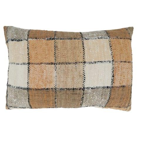 Checkered Design Throw Pillow