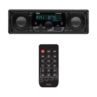 Boss Marine/ATV/UTV Mechless AM/FM receiver w/built in speakers bluetooth
