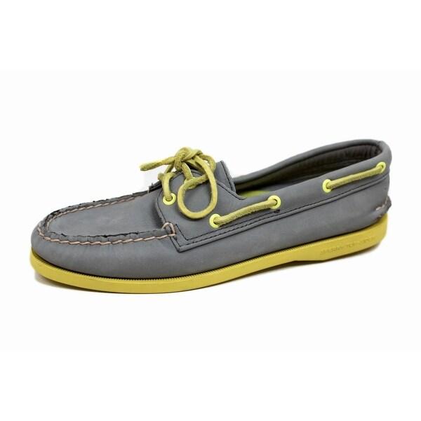 Sperry Women's Authentic Original Grey/Yellow 9826413