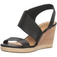 Lucky Brand Womens LK-Lowden Leather Open Toe Casual Platform Sandals