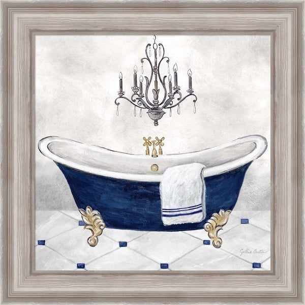 Cynthia Coulter 'Navy Blue Bath II' Framed Art. Opens flyout.