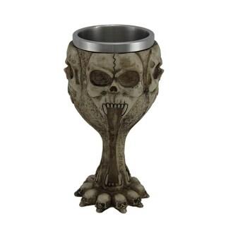 Gothic Screaming Skulls 12 Ounce Goblet W/ Stainless Steel Insert