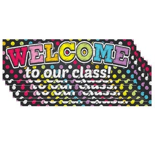 (6 Ea) Magnetic Welcome Banner Neon Chalk Dots