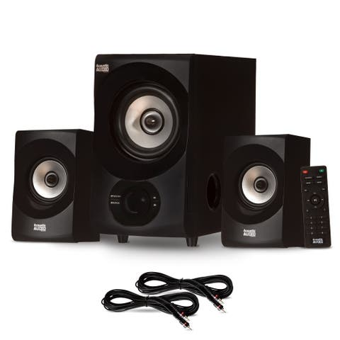 Acoustic Audio 2.1 Bluetooth 2.1 Speaker System with 2 Extension Cables for PC