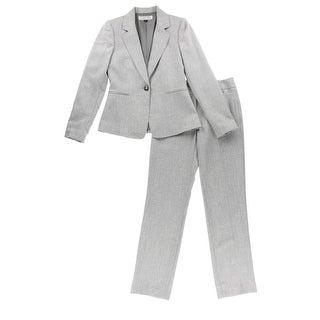 Tahari Womens Notch Collar 2PC Pant Suit - 14