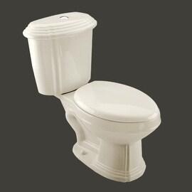Bone China Elongated Dual Flush Toilet Seat Included