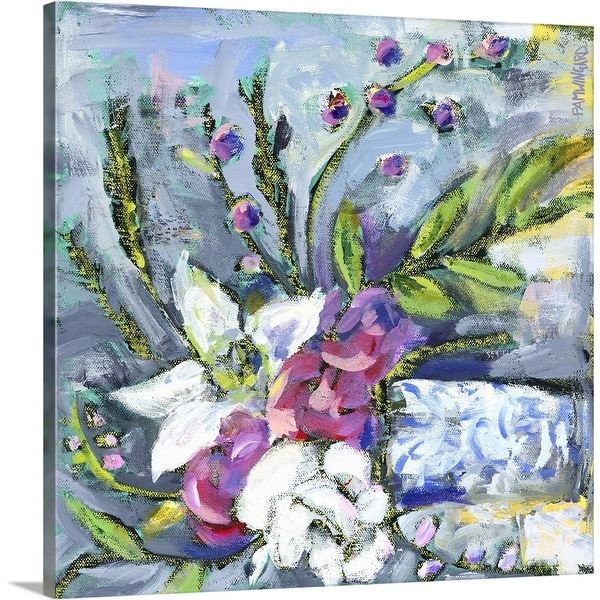 """""""Blue and White Vase lavender"""" Canvas Wall Art"""