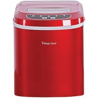 Magic Chef Mcim22R 27Lb-Capacity Ice Maker (Red)