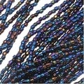 Czech Tri-Cut Seed Beads 10/0 'Navy Blue Iris' (1 Strand/360 Beads) - Thumbnail 0