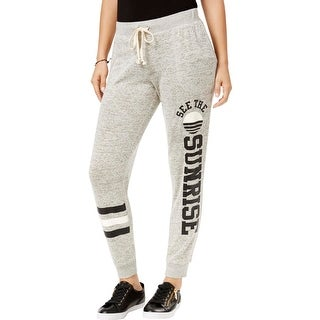 Ultraflirt Womens Juniors Jogger Pants Heathered Graphic