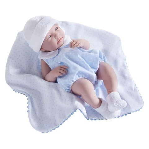 All-Vinyl Real Boy Doll Bubble Suit Outfit & Blanket, Blue