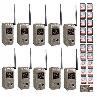 Cuddeback 20MP Dual Flash Trail Cameras with CL-Caps (10) and 16G Card (20)