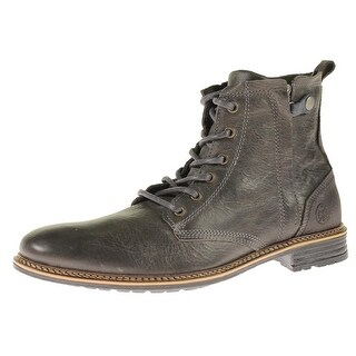 Steve Madden Mens Dey Ankle Boots Leather Lace Up