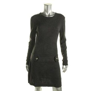 BCX Womens Juniors Cable-Knit Drop Waist Sweaterdress