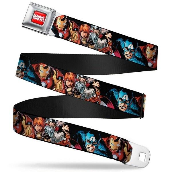 Marvel Universe Marvel Full Color Red White Marvel Universe Superheroes Seatbelt Belt