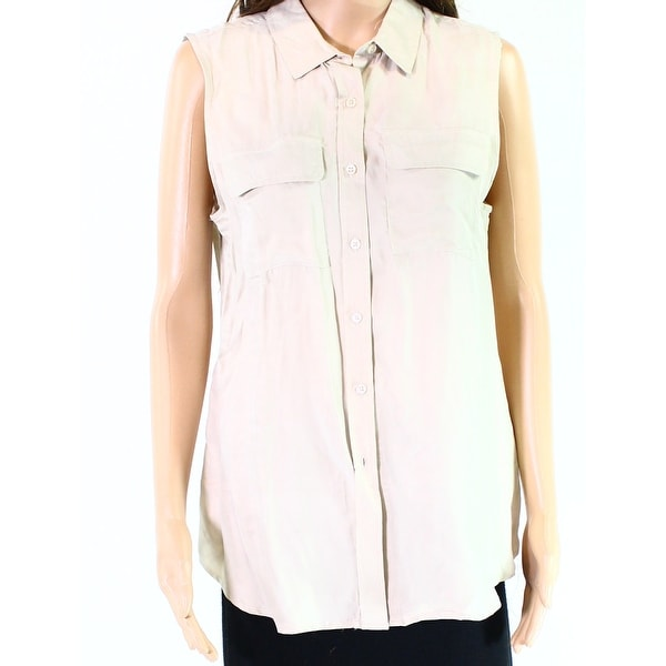 02e398ed6 Shop Romeo + Juliet Womens Small Sleeveless Button Down Top - Free Shipping  On Orders Over $45 - Overstock.com - 27006721