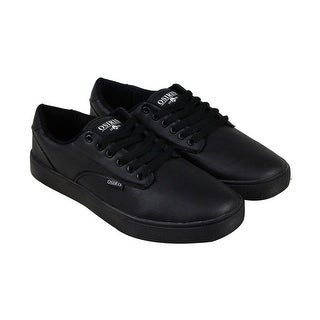 Osiris Slappy Vlc Mens Black Leather Lace Up Sneakers Shoes