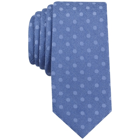 bar III Mens Bayberry Dot Necktie, blue, One Size - One Size