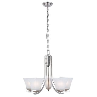 Design House 514836 Torino Transitional 5 Light Up Lighting 1 Tier Chandelier