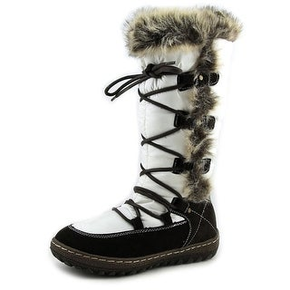 Wanderlust Helina Women W Round Toe Canvas White Snow Boot