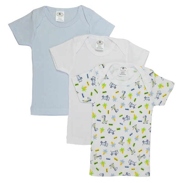 Bambini Printed Boys Short Sleeve Variety Pack - Size - Large - Boy