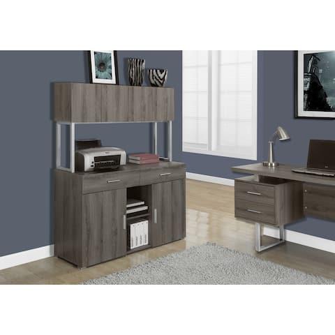 Monarch 7067 Dark Taupe Storage Credenza 48nch Office Cabinet