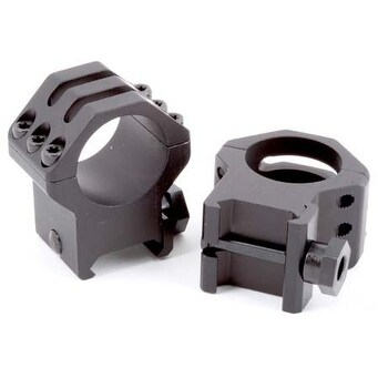 "Weaver Tactical 1"" Scope Rings - 6-Hole Picatinny XHIGH Fits up to 50mm Obj Lens"