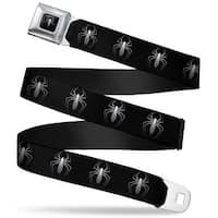"Marvel Universe ""New"" Spider Logo Full Color Black White ""New"" Spider Logo Seatbelt Belt"