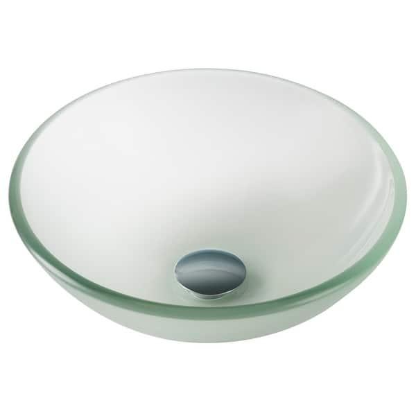 Kraus 14 Inch Frosted Round Glass Vessel Bathroom Sink Overstock 3320714