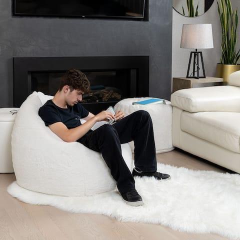 Gouchee Home Agora Faux Fur Bean Bag Chair