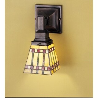 Meyda Tiffany 24275 Stained Glass / Tiffany Down Lighting Wall Sconce from the Prairie Corn Collection