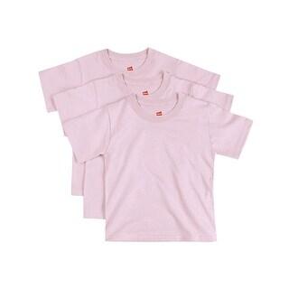 Hanes ComfortSoft Toddler Crewneck T-Shirt 3-Pack - Size - 4T - Color - Pale Pink
