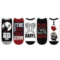 The Walking Dead-Unisex-5 Pack Low Cut No Show Cosplay Socks-The Real Threat