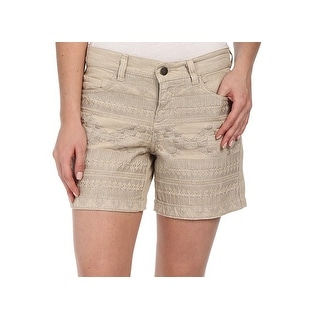 Dylan NEW Beige Nude Women's Size 8 Solid Embroidered Shorts