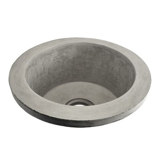 "Native Trails NSB1607 NativeStone Olivos 16"" Single Basin Drop In or Undermount Concrete Bar Sink"