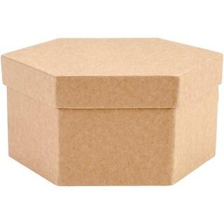 Paper-Mache Hexagon Box Set 5/Pkg-