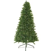 5' Pre-Lit Canadian Pine Artificial Christmas Tree - Multi LED Lights - green