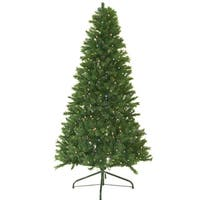 7' Pre-Lit Canadian Pine Artificial Christmas Tree - Multi Lights