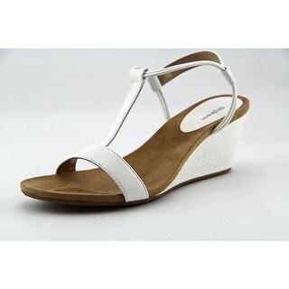 Style & Co Mulan Women Open Toe Synthetic White Wedge Sandal