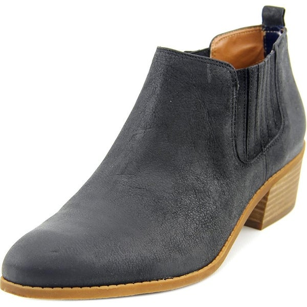 Tommy Hilfiger Ripley Women Round Toe Leather Black Ankle Boot