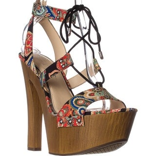 Jessica Simpson Doreena Platform Sandals, Black/Summertime Paisley